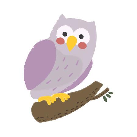 Illustration style of wildlife - Owl