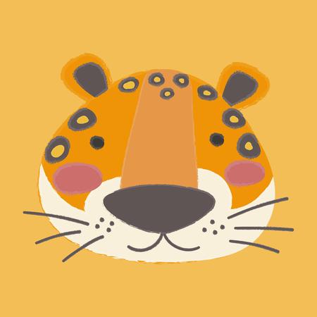 Illustratiestijl van de wildlife tijger