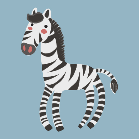 Illustration style of wildlife - Zebra