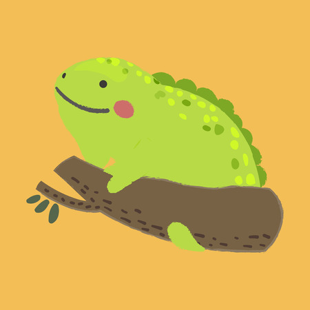 Illustration style of wildlife - Chameleon Иллюстрация