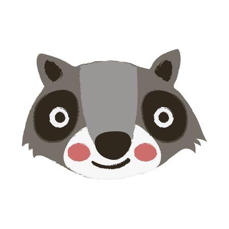 Illustratiestijl van het wild - Wasbeer