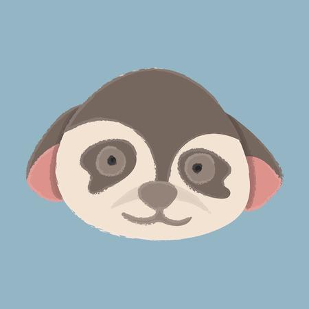 Illustration style of wildlife animal - Monkey