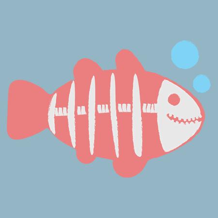 Modèle d'illustration de poisson aux rayons X Banque d'images - 86169717