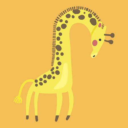 Illustration style of wildlife - Giraffe