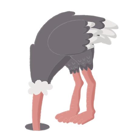 Illustratiestijl van het wild - Struisvogel.