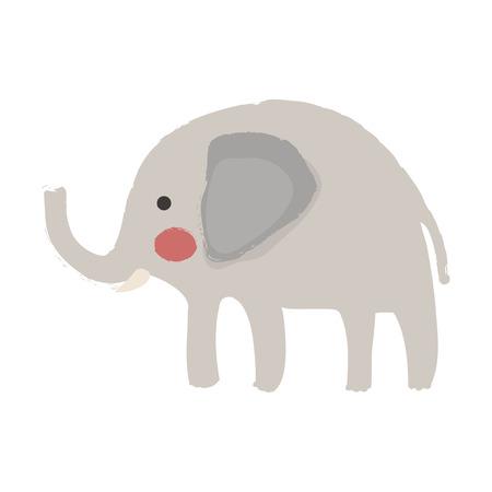 Illustration style of wildlife - Elephant
