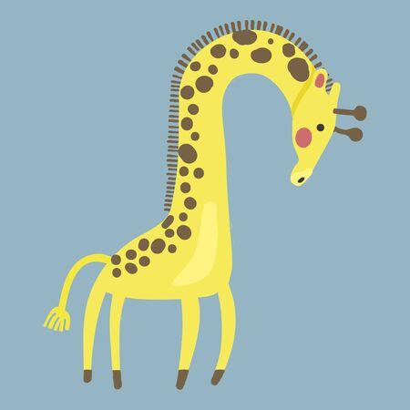 Estilo de ilustración de la vida silvestre - jirafa. Foto de archivo - 86041870