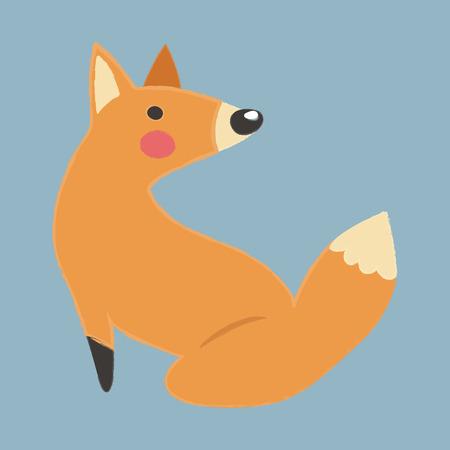 Illustration style of wildlife - Fox.