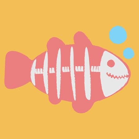 Illustration style of X-ray Fish