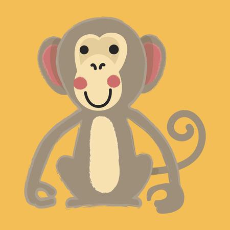 Illustration style of Monkey.