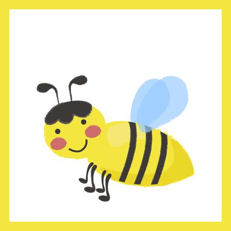 Illustration style of Honey Bee. 向量圖像