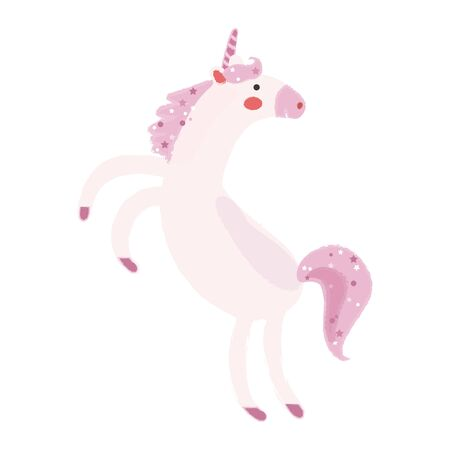 Illustration style of fantasy beast, Unicorn. Ilustrace