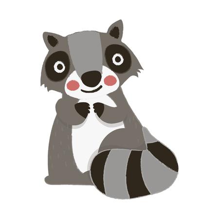 Illustration style of wildlife - Raccoon 版權商用圖片 - 86108955