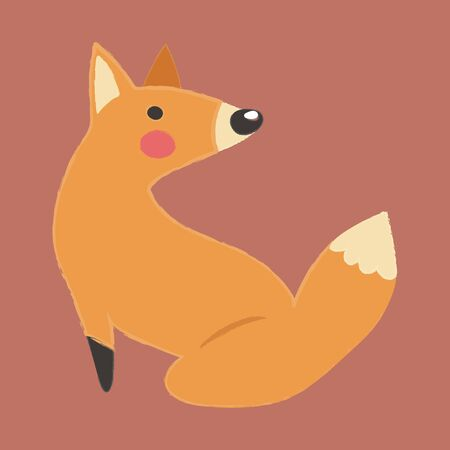Illustration style of wildlife - Fox. 版權商用圖片 - 86041889