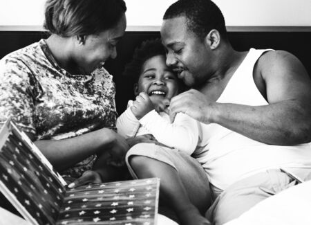 Black family spend time together love happiness Banco de Imagens