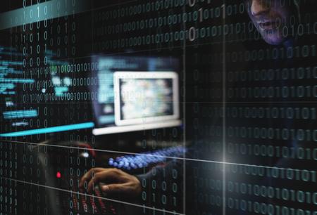 Hacker data system hacking