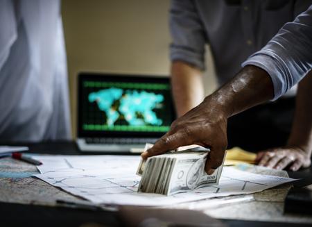 Les hommes d'affaires corrompus vénalité Banque d'images