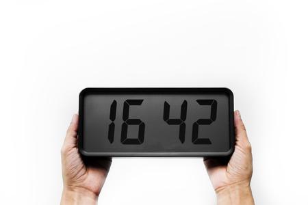 分離された白のデジタル時計