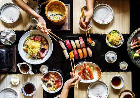 日本の食品健康的なライフ スタイルを食べる