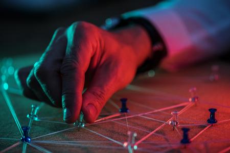 Hand selecteren pin op verbinding simuleren