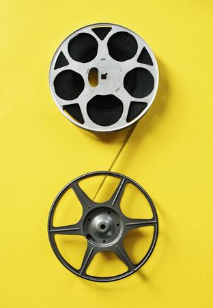 Retro film strip isolated on background 版權商用圖片