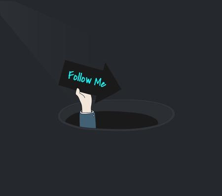 Follow social media illustration