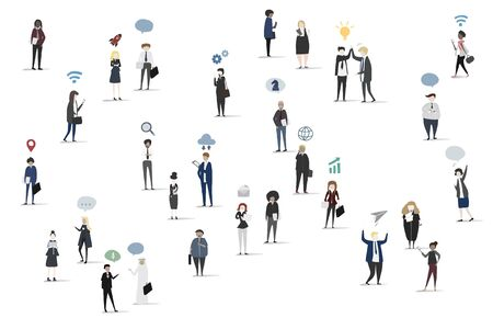 Collection of business people