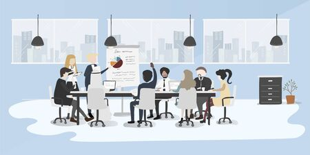 Illustration drawing style of business people collection