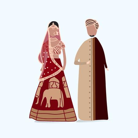 インドの伝統的なウェディングドレス