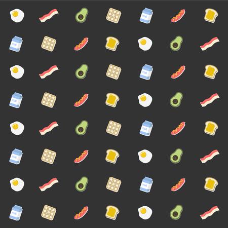 シームレスな食のパターン  イラスト・ベクター素材