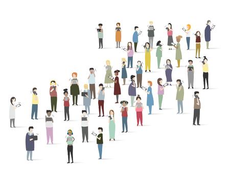 Set of illustrated people Illustration