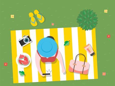 夏を感じるデザイン 写真素材 - 86205274