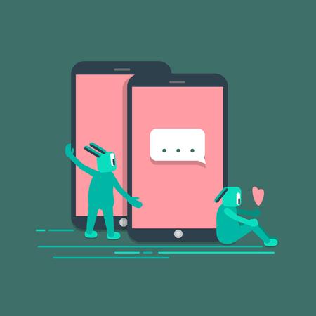 Social media technology internet llustration