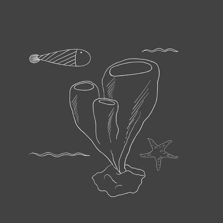 Vector van onderwater schepselen Stock Illustratie
