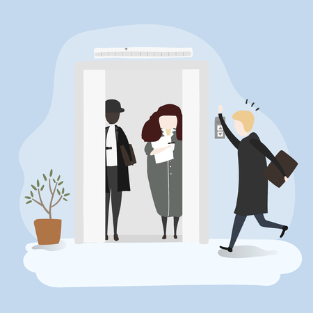Vector collection of business people collection