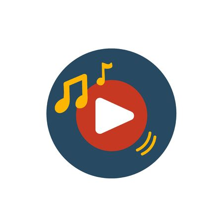 Illustration of music application icon