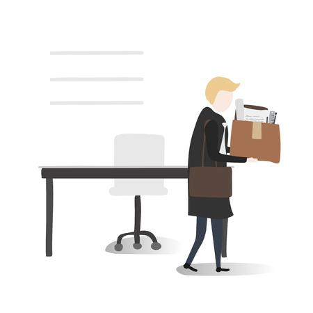 オフィスでのビジネスの男性  イラスト・ベクター素材