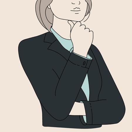 Vector of businesswoman