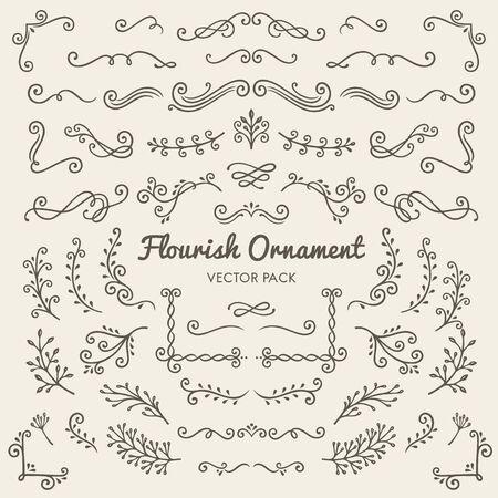 Flourish ornaments calligraphic design