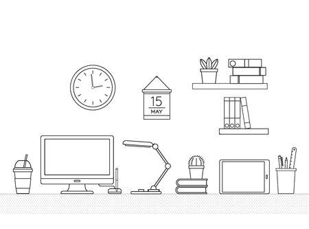 Office supplies Ilustração