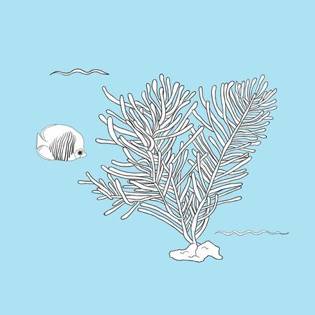 Underwater creatures Ilustrace