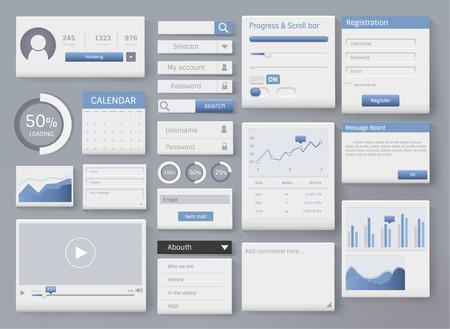 Various website interface design