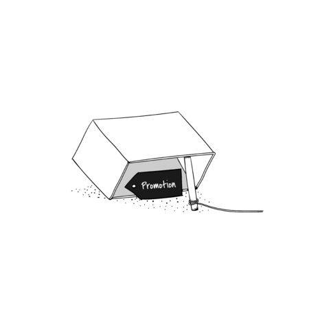 Vector of sale promotion trap