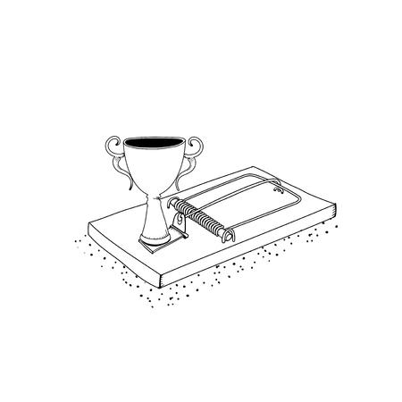 成功したトロフィートラップのベクトル