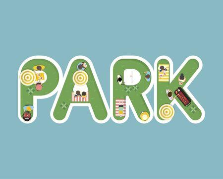 Park이라는 단어로 여름 느낌의 디자인 스톡 콘텐츠 - 86205365
