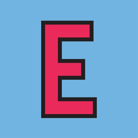 Alphabet letter typography vector illustration