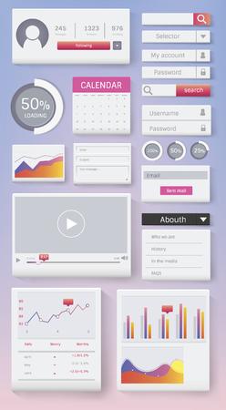 Various website interface design vector