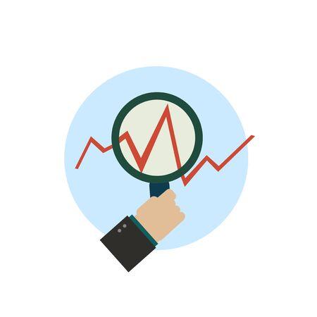 Business management icon Illustration