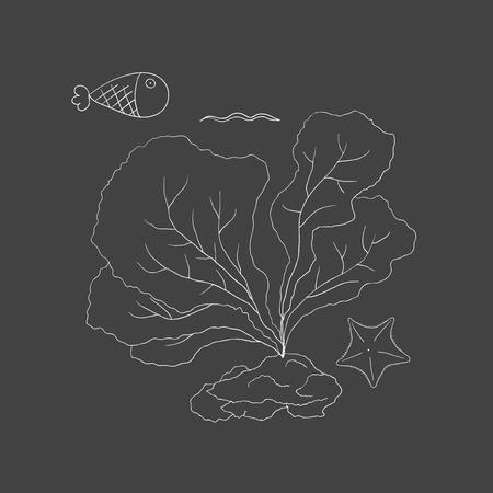 水中の生き物のベクトル