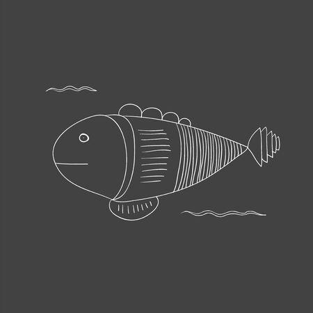 Underwater creatures Ilustração